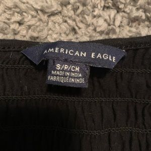 American Eagle Outfitters Tops - Black Ribbed American Eagle Top